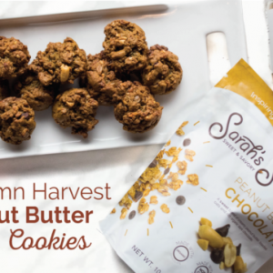 Autumn Harvest Peanut Butter Oatmeal Cookies